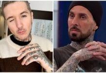 knuckle tattoos oli sykes travis barker