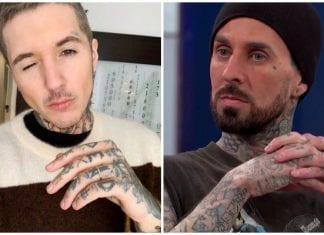 knuckle tattoos oli sykes travis barker