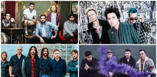 secret show bands a day to remember green day foo fighters fall out boy