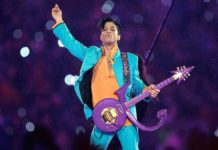 Prince performs at the Super Bowl.