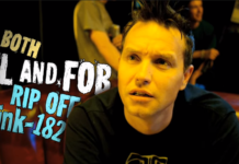 "Mark Hoppus in All Time Low's music video for ""Weightless"""