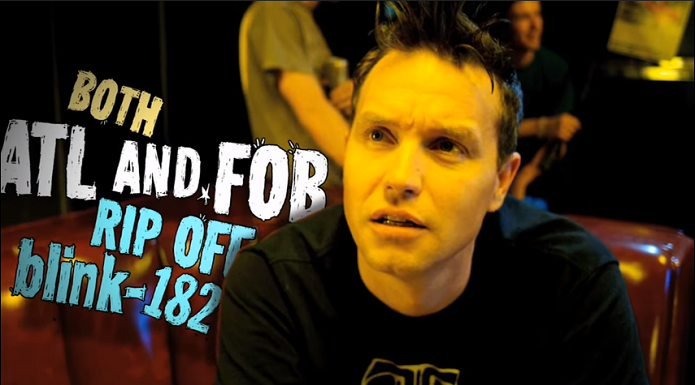 Mark Hoppus in All Time Low's music video for