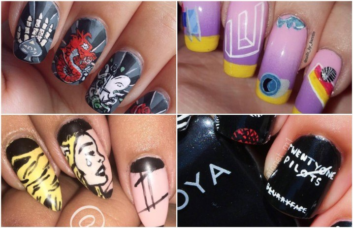 10 ways to show off your love of album art with nail designs ...