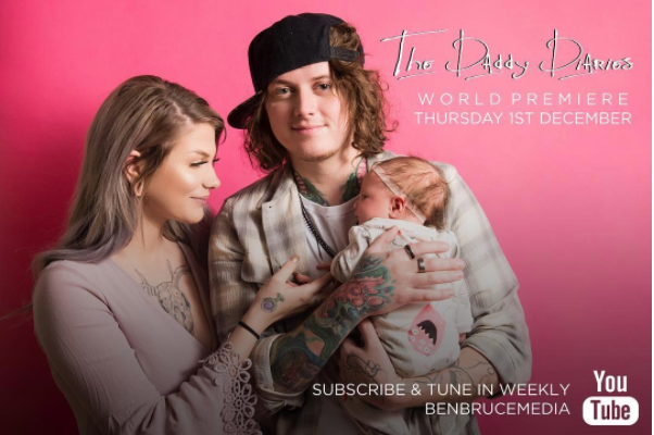 asking alexandria guitarist ben bruce chronicles fatherhood in the daddy diaries alternative. Black Bedroom Furniture Sets. Home Design Ideas