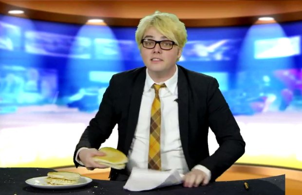 Gerard Way gives the Weekend Pancake Report, Jimmy Urine & Chantal Claret rap on punk-rock kids show - Alternative Press
