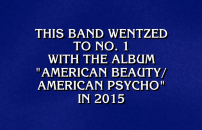 12 times bands were featured as 'Jeopardy!' clues