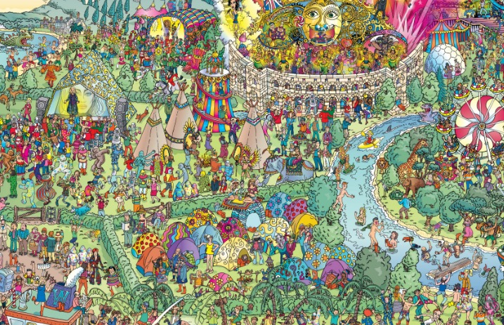 Waldo Ohio Map.Can You Find Your Favorite Musicians In This Where S Waldo Map