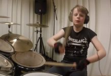 Kid drummer plays Metallica discography
