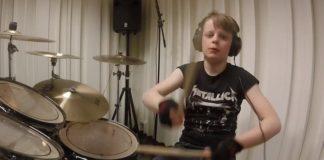 Kid drummer plays Metallica discography
