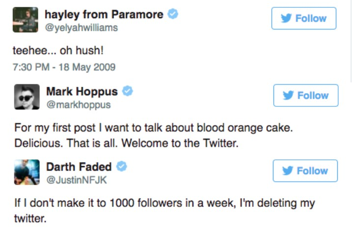 24 Of The Best First Tweets From The Scene Alternative Press Ask anything you want to learn about mark hoppus by getting answers on askfm. first tweets from the scene