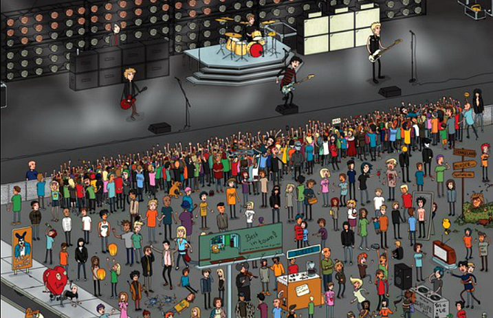 Spot the 161 Green Day references in the ultimate 'Where's Waldo?'-inspired picture