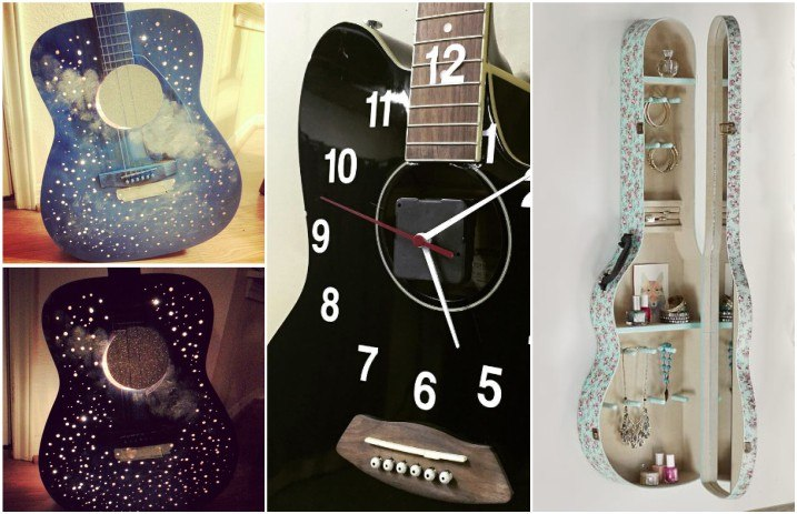 10 Diy Ideas For Upcycling Your Old Guitar Alternative Press