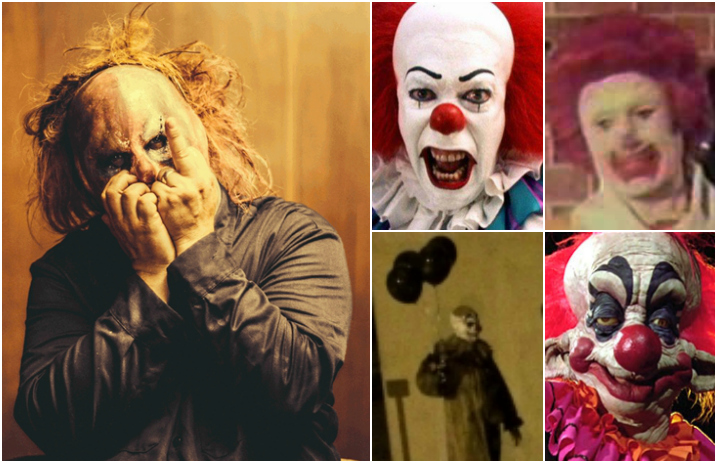 but how does slipknot s clown feel about the world s scariest clowns