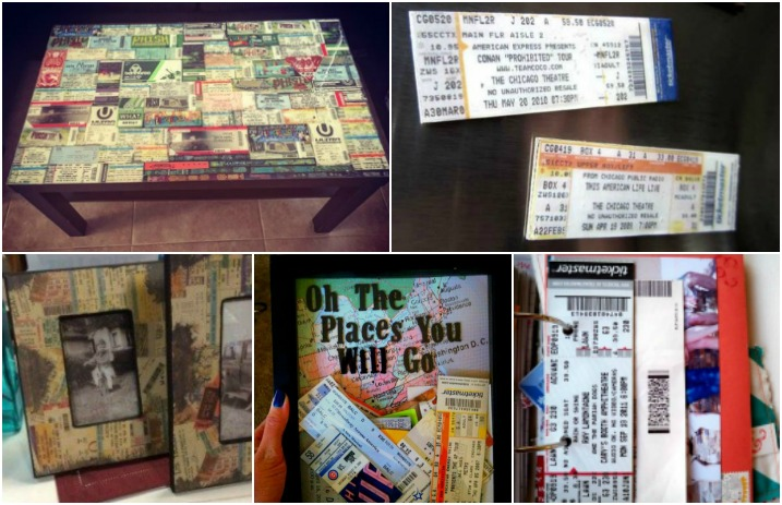 10 diy ideas for your old ticket stubs