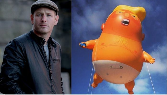 Corey Taylor and the Donald Trump baby balloon