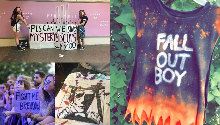 86f4c029 11 amazing signs and T-shirts fans have made for concerts