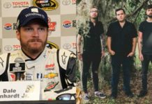 Scene superfan Dale Earnhardt Jr. promotes a show with the Dangerous Summer