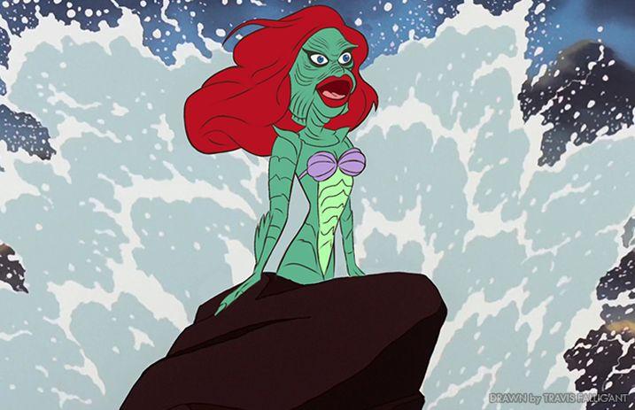 An artist transformed Disney princesses into popular horror movie characters - Alternative Press