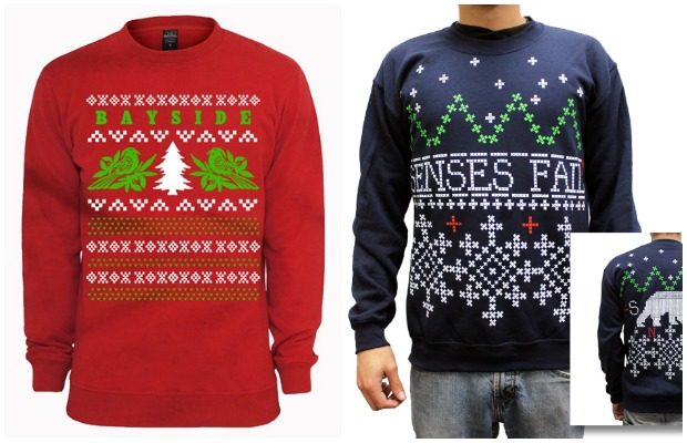 trend alert festive holiday sweaters pop up in bands webstores alternative press - Band Christmas Sweaters