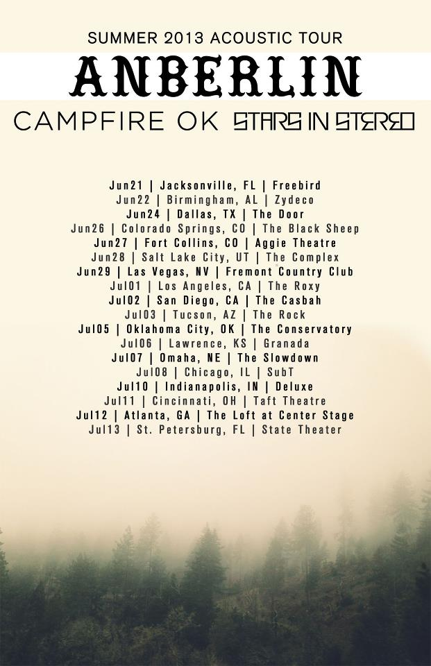 Anberlin announce summer acoustic tour with Campfire Ok and Stars In Stereo - Alternative Press