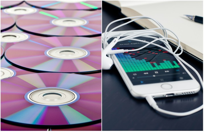 Music streaming surpasses CD sales worldwide for the first