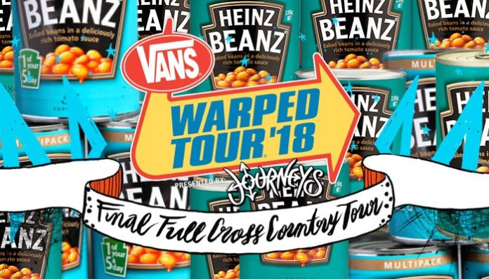 Can o' beans at Warped?