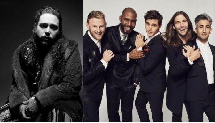 Post Malone and 'Queer Eye' cast