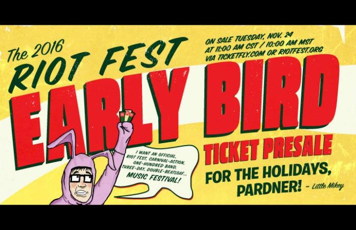 Riot Fest announces Early-Bird Ticket Sale - Alternative Press