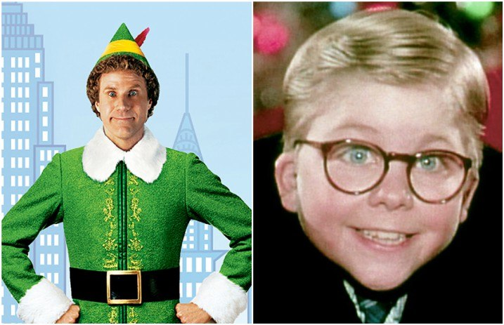 yep ralphie from a christmas story has a cameo in elf