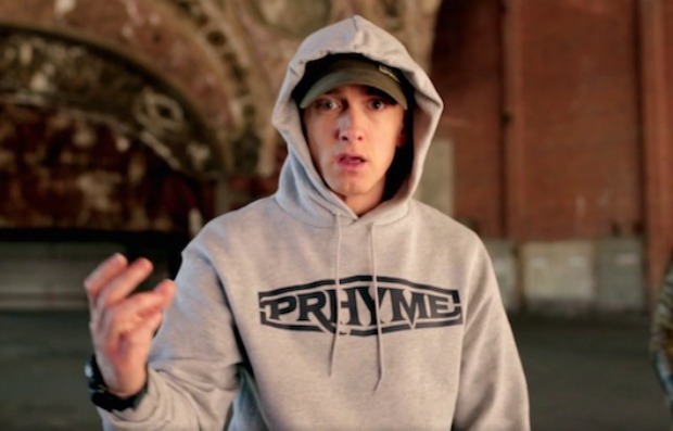 "0f4fe58db Eminem raps that he ll punch Lana Del Rey in the face ""like Ray Rice ..."