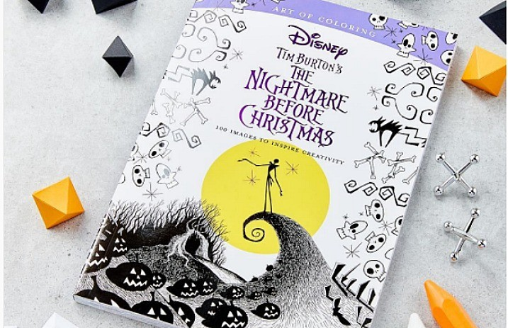 This Nightmare Before Christmas Coloring Book Is Delightfully