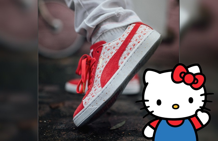 best service 0c16b 74227 These Hello Kitty x Puma shoes are the cat's pajamas ...