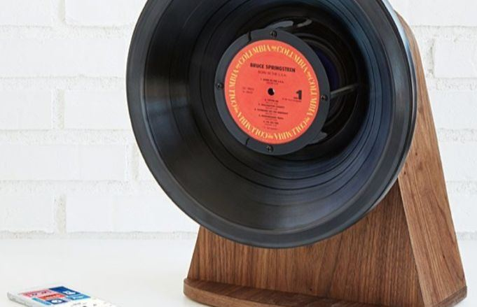 This guy uses vinyl records to make one-of-a-kind Bluetooth speakers