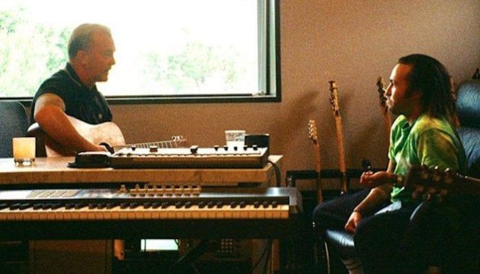 Fall Out Boy's Pete Wentz with producer John Feldmann