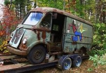 Aerosmith van in woods