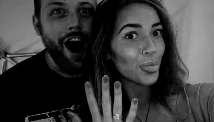 Danny Worsnop Victoria Potter engaged