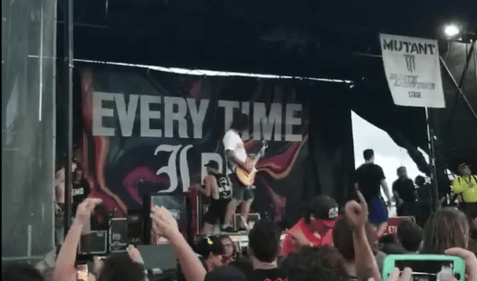 Jordan Buckley of Every Time I Die was determined to be the last performer at Vans Warped Tour forever.