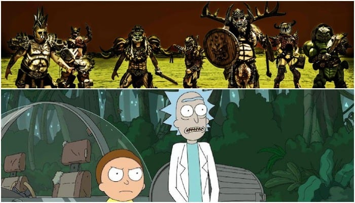 gwar apparently made a cameo in the pilot episode of rick and morty