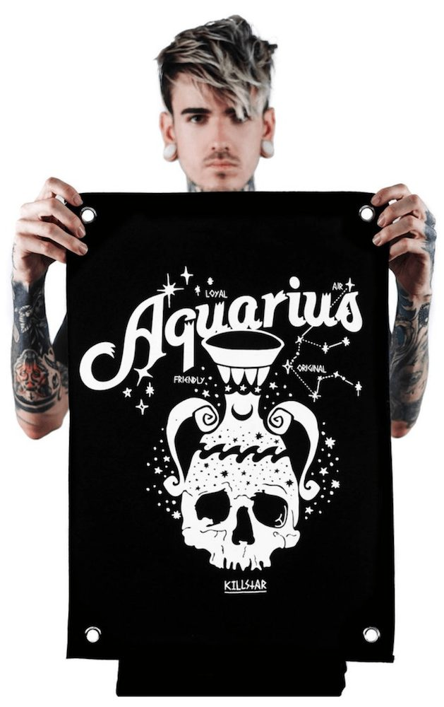 killstar zodiac mini tapestry