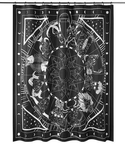 killstar zodiac shower curtain