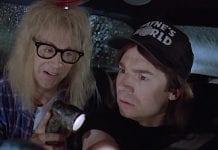 Wayne's World 2 Jurassic Park scene