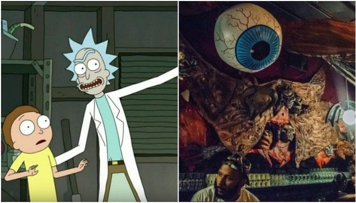 This heavy metal band got to destroy the new 'Rick And Morty' bar