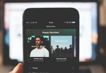 Spotify on a smartphone