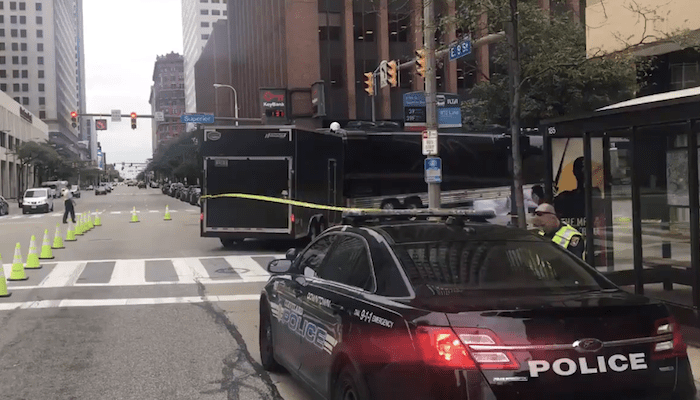 Singer Gary Numan's tour bus involved in deadly accident in downtown Cleveland