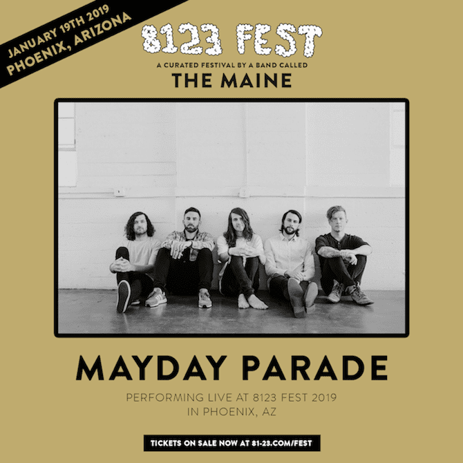 the maine 8123 fest mayday parade