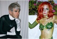 Awsten Knight and Halsey dress up for Halloween.