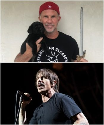 Chad Smith, Anthony Kiedis from Red Hot Chili Peppers