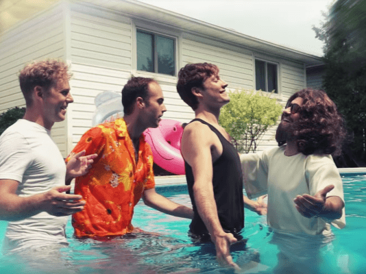 """Jesus Christ drowns the Dirty Nil in """"That's What Heaven Feels Like"""" music video"""