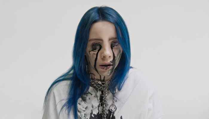 billie eilish bleeds black in haunting  quot when the party s painting brush clipart black and white School Clip Art Black and White
