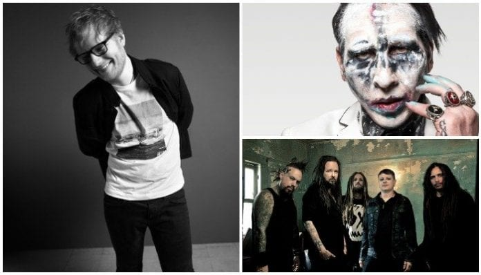 ed sheeran marilyn manson korn (1)